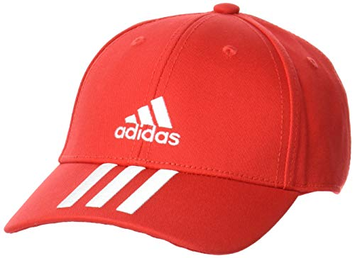 adidas GM6269 BBALL 3S CAP CT Hats unisex-adult vivid red/white/white OSFM