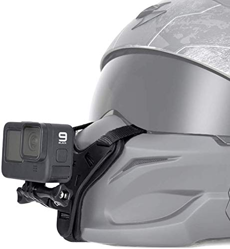 Taisioner Motorcycle Helmet Mount Chin Strap for GoPro AKASO or Other Action Camera Cycling Shoot Accessories ( Second Generation )