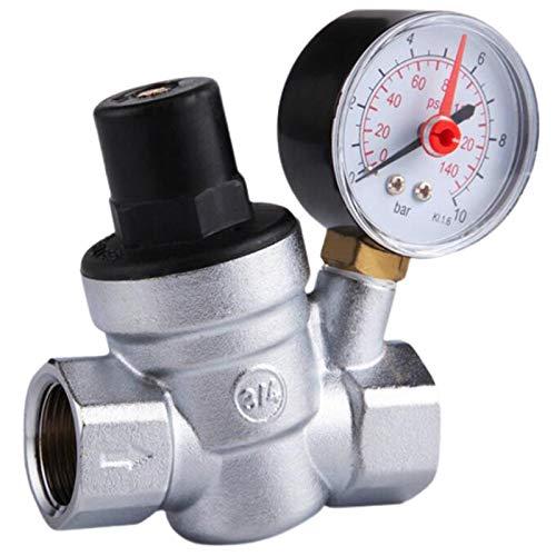 HGFHGD DN20 (3/4 Zoll) Druckminderventil Wasserdruckregler mit Manometerdruck