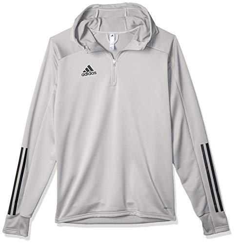 adidas CON20 TK Hood Sweatshirt, Hombre, Team Mid Grey/Black, S