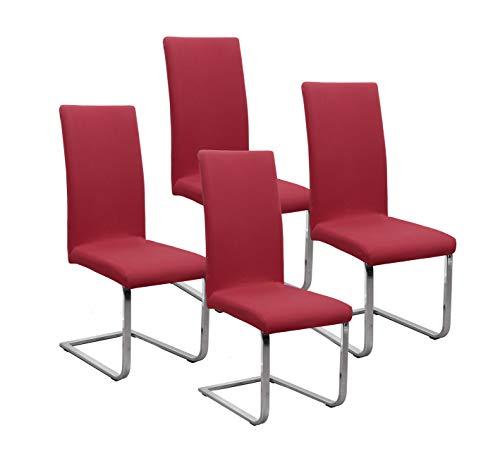 BEAUTEX Jersey Stuhlhussen Sets, elastische Stretch Husse Baumwolle Bi-Elastic