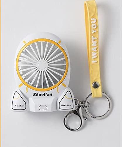 KACC Cartoon Unicorn Fans Rucksack Keychain Ladung im Freien Fans Tragbare Student Anhänger Space Capsule USB Lade Mini Fan (Farbe : Weiß)