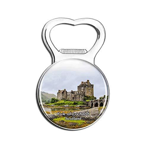 Scotland Kyle of Lochalsh Eilean Donan Castle UK England Fridge Magnet Bottle Opener Beer City Travel Souvenir Collection Gift Strong Refrigerator Magnet