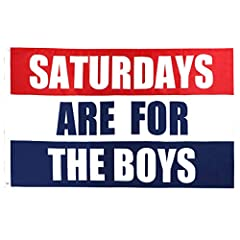 SATURDAY FlAG:Beautiful saturday are for the boys flag is made of 100% polyester.Flag surface can resist the erosion of ultraviolet radiation very well after special treatment. COLLEGE FLAG:Lightweight saturday are for the boys flag are great for col...