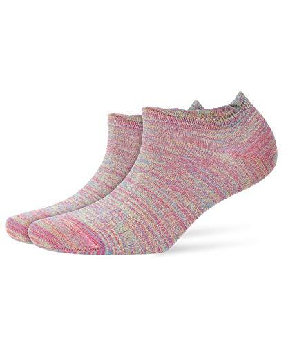 BURLINGTON Damen Sneakersocken Raver, Baumwollmischung, 1 Paar, Rosa (Gloss 8550), Größe: 36-41
