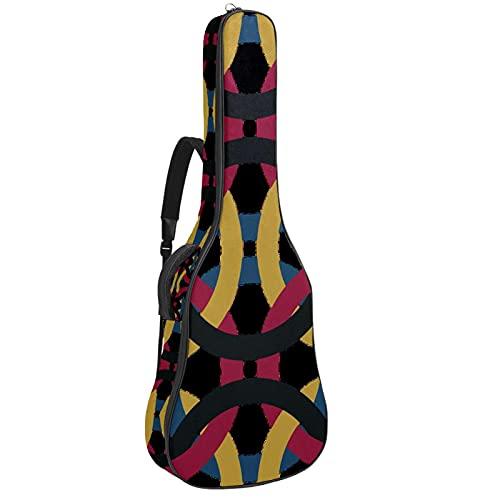 Bolsa de guitarra, tela Oxford impermeable, 2 bolsillos para guitarra clásica acústica de 40 41 42 pulgadas, vector abstracto