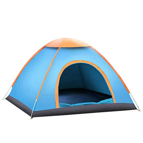 Night Cat Camping Tent 1 2 3 Person Instant Pop Up Automatic Dome Holiday Easy Setup Tent for Outdoor Hiking Double Layer,Blue,190 * 140 * 110