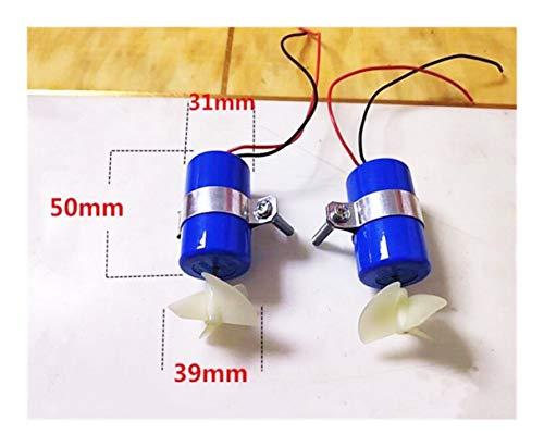 Zimaes Excelente Bajo el Agua Motor Propulsor Kit de Motor a Prueba de Agua Repuestos RC Alimentación Barco/Buceo DIY Modelo de Robot Suave (Color : 1xpositive 1xreverse)