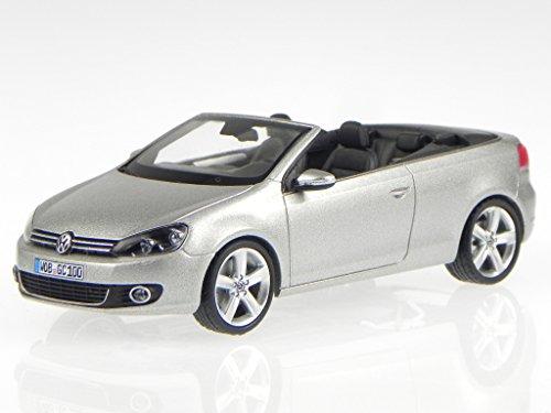 VW Golf 6 Cabrio silber tungsten silver Modellauto Schuco 1:43