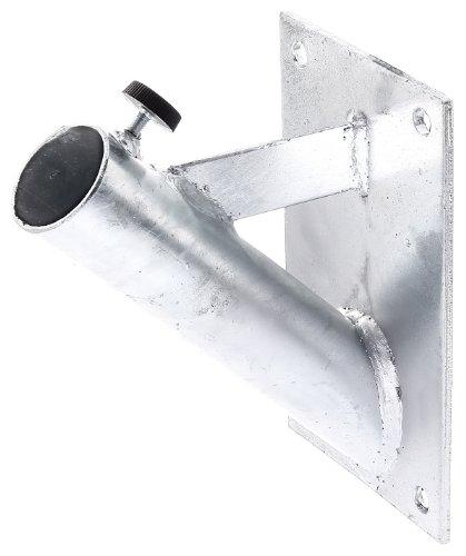 GAH-Alberts 639815 Halter für Fahnenmasten | zur Befestigung an der Wand | feuerverzinkt | für Rohr-Ø: 42 mm