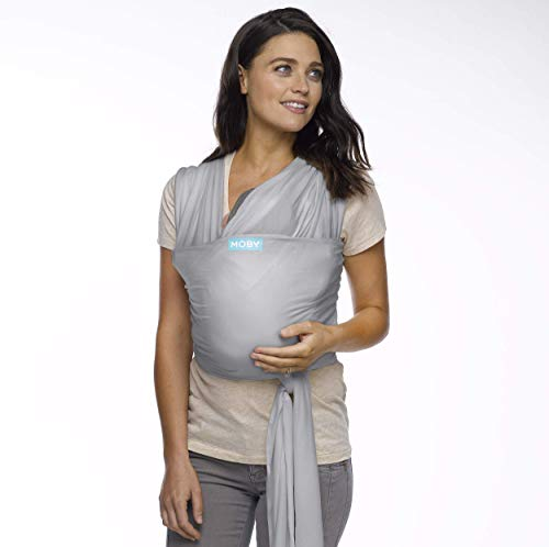 Moby Wrap Baby Carrier | Classic | Baby Wrap Carrier for Newborns & Infants | #1 Baby Wrap | Baby Gift | Keeps Baby Safe & Secure | Adjustable for All Body Types | Perfect for Mom & Dad | Stone Grey