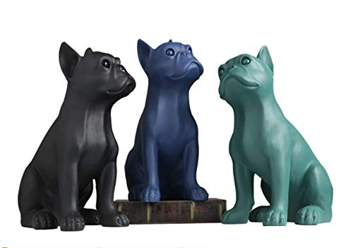 Zr Creative and Interesting Resin Pet Modeling Crafts Desktop Ornaments Birthday Gift Souvenir Bedroom Living Room Study Personality Modern Decoration (Color : All(3))