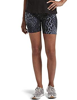HUE Women s High Waist Blackout Cotton Bike Shorts Assorted Leggings Pants Blue Leopard X-Small US