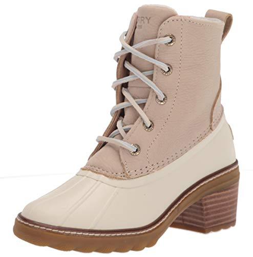 Sperry Women's Saltwater Heel Rain Boot, Ivory, 8.5