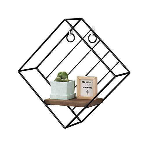 WYFZT Floating Shelf for tv Components, Home Decoration Shelf, Storage Shelves Display Racks Home Decor Wall Shelves for Living Room, Office, Bedroom, Bathroom, Kitchen,White or Black (Color : Black)