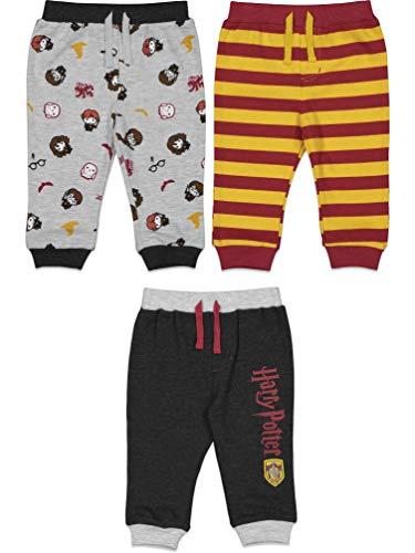 Harry Potter Baby Boys 3 Pack Jogger Pants Drawstring Gryffindor 24 Months