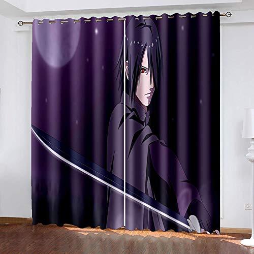 Probuk Minions vorhänge lichtblockierende Vorhänge Heimdekoration Fenster Blickdicht Vorhänge,FürWohnzimmer Schlafzimmer (2PCS) (05,280x245cm)