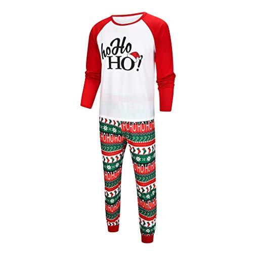 Likecrazy Weihnachten Familie Kleidung Zweiteiliger Schlafanzug Familien Outfit Pyjama,Mutter Vater Kind gedruckt Brief Top + Print Hosen Kleidung Set für Weihnachtspyjama Outfits