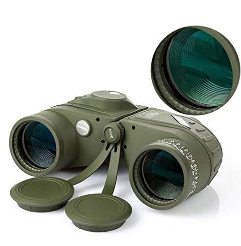 LFFCC 10X50 Fernglas Mit Kompass, Outdoor Und Birding Fernglas, Voll Multi-Coated Mit Bak-4 Prismen, Nebeln Und Wasserdichtes Fernglas, Top-Pick Optics
