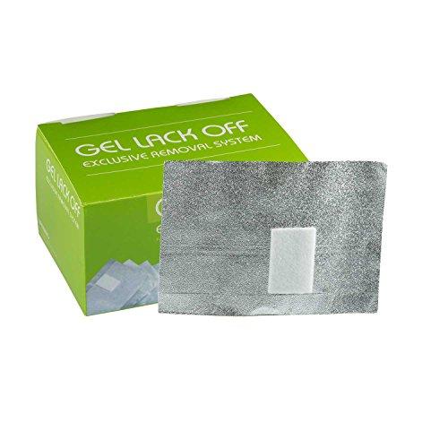 N&BF Lot de 100 lingettes dissolvantes UV pour retirer facilement le gel UV et le vernis en gel Soak off pour ongles en gel