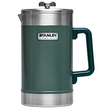 Stanley Classic Vacuum French Press, 48 oz, Hammertone Green