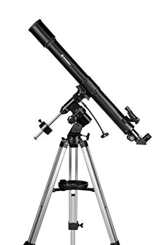 Bresser Refraktor Teleskop Lyra 70/900 EQ mit Smartphone Kamera Adapter und hochwertigem Objektiv-Sonnenfilter, inklusive Montierung, Stativ und Zubehör