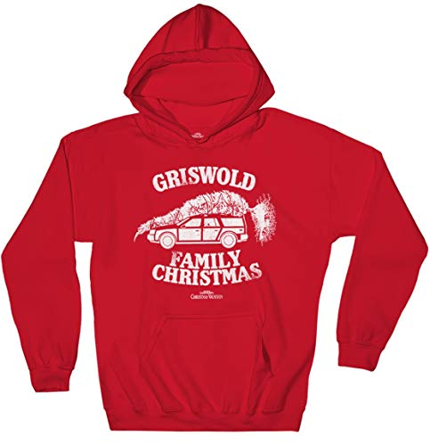 Ripple Junction National Lampoon's Christmas Vacation Adult Unisex Griswold Family Xmas Pull Over Fleece Hoodie XL Red