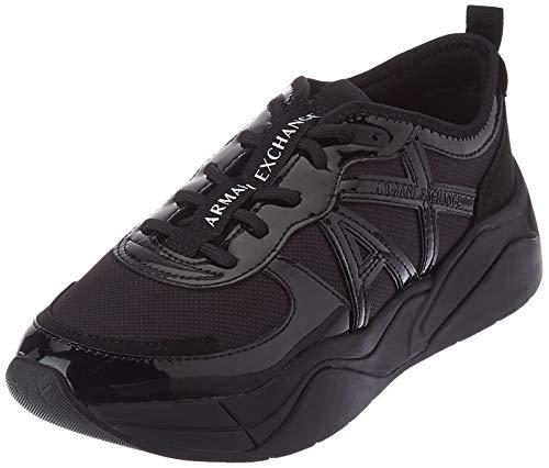 Armani Exchange Running, Zapatillas para Mujer, Black, 41 EU