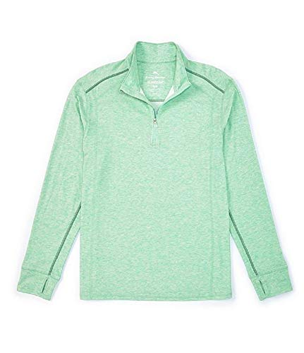 Tommy Bahama Island Active Palm Valley Half Zip, Spring Pool Heather, X-Large