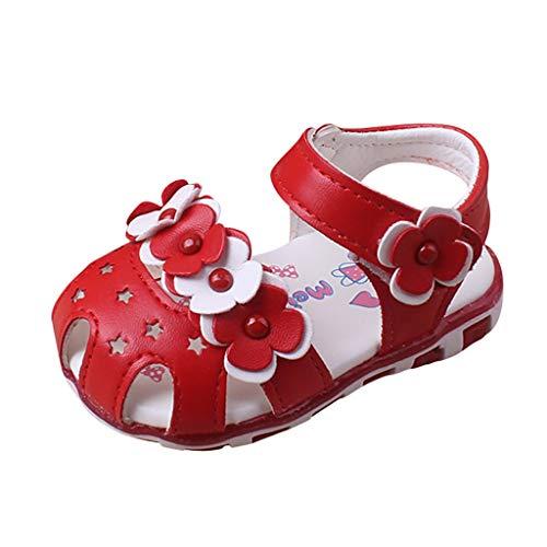 HDUFGJ Unisex Baby Kinderschuhe Sandalen Clogs Kinderschuhe Minions Hausschuhe Kinderschuhe Sale Clogs Riemchensandalen Geschlossene Sandalen20.5 EU(rot)