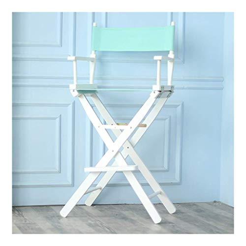 Yangyuan, sedie pieghevoli per attività all'aperto, campeggio, viaggi, in legno massello, pieghevole, con telaio in faggio pieghevole, set di tela di ricambio, per artisti, registi, studio e trucco