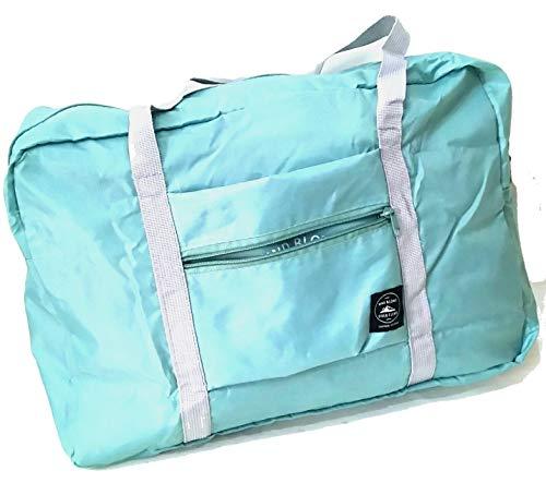 【WIND BLOWS】折りたたみ ボストンバッグ トートバッグ キャリーバッグ オン サブバッグ スーツケースの持ち手に通せる 大容量 折り畳み式 簡易 予備バッグとして大活躍 マリンスタイル (折りたたみボストン, 【グリーン】)