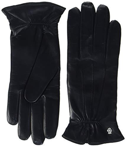 Roeckl Damen Handschuh Klassiker - Gerafft 13011-220, Gr. 7, Schwarz (000)