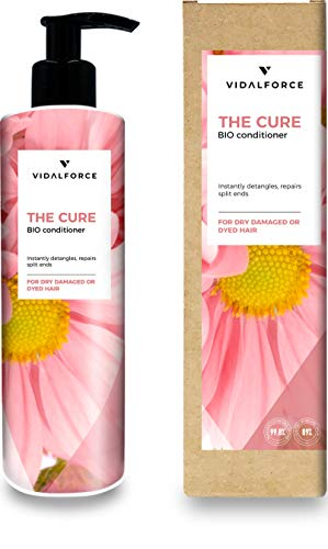 THE CURE. Pflegespülung für trockenes oder geschädigtes Haar I Sulfatfreie Pflegespülung ohne Silikone I Feuchtigkeitsspendende Haarkur - Natürliche/ökologische Pflegespülung | 100% Toxic-Free