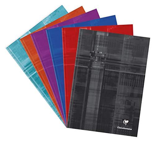 Clairefontaine 9042C - Cuadernos cosido (Tapa dura) A4 cuadriculado 5x5, colores surtidos, 1 unidad