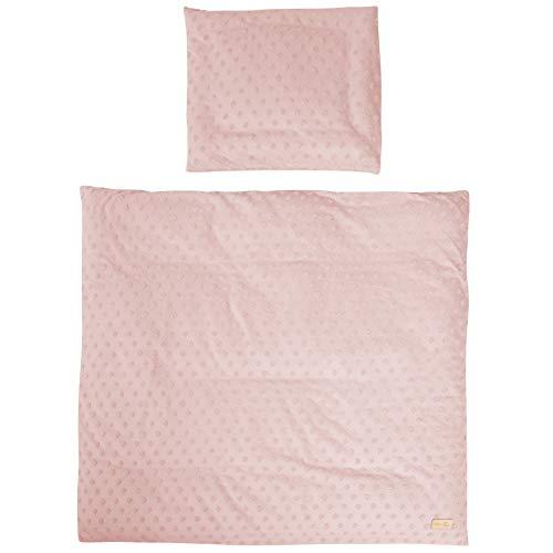 roba organic 2-teilige Wiegenbettwäsche 'Lil Planet' rosa/mauve, 80x80cm, Jersey GOTS zertifiziert