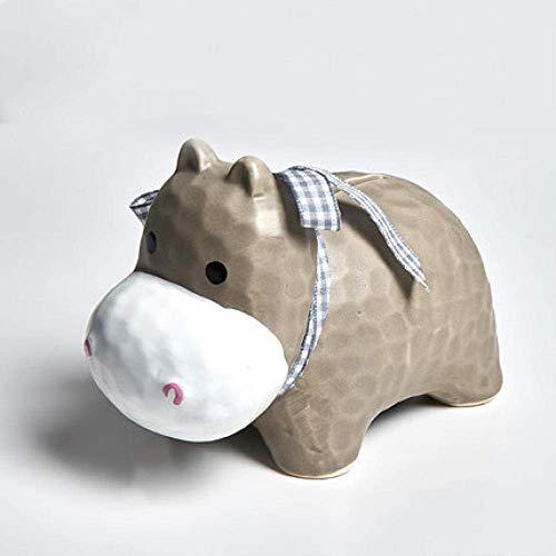 SUNTAOWAN Arte Decoraciones Craft Hippo Regalo Hucha de cerámica de decoración alcancía niños Sala de Estar casera