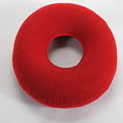zhuao Hüftstützkissen, Medizinisches Hämorrhoiden-Kissen, Kreisförmiges Aufblasbares Massagekissen rot