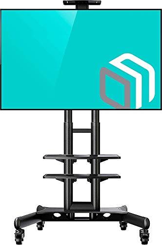ONKRON TS15-52 Meuble TV sur roulettes des écrans de 40 à 70 Pouces Noir