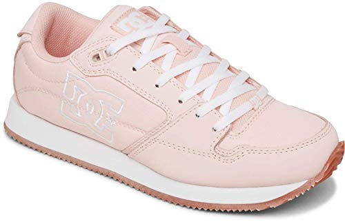DC Women's Alias Skate Shoe, Pink/White, 7.5 B M US