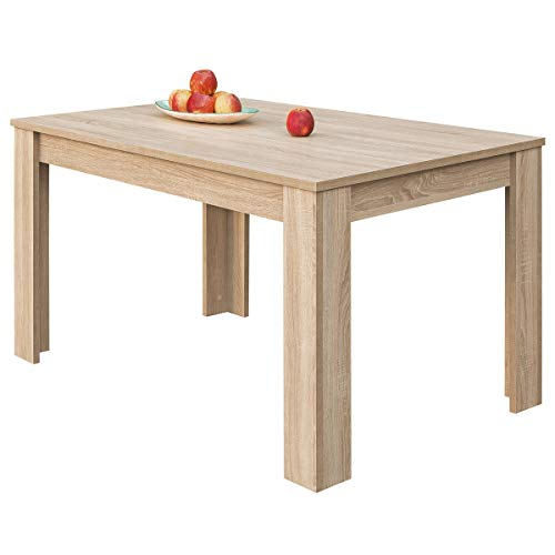 COMIFORT – Mesa De Comedor Extensible Moderna de 120 a 170 cm, Medidas 120/170x75x78 cm, Disponible en Colores: Blanca, Blanco/Roble, Roble, Wengue, Nordic (Roble)