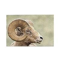 ラム動物の自然の風景 1000 ピース ジグソーパズル ジャングルの動物 パズル ャルアートコレクション - 木製パズル 大人 向け