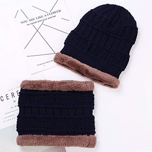 Jiayi hoed/sjaal, voor herfst en winter, velours, voor heren, tweedelig, van leer, standaard, oorbescherming