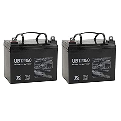 Universal Power Group 35AH 12Volt Deep-Cycle Sealed Lead Acid Rechargeable Battery 35Amp Hour 12V - 2 Pack