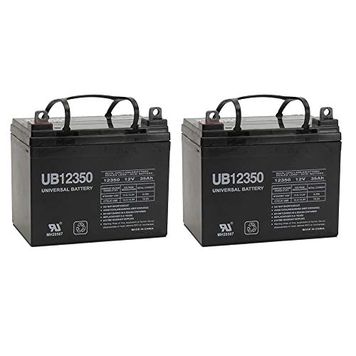 Universal Power Group 12V 35Ah U1 Deep Cycle AGM Solar Battery Also Replaces 33Ah, 34Ah, 36Ah - 2 Pack