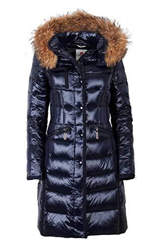Grimada M006 dames donsjas winterjas met echt bont/echt dons/echt bont