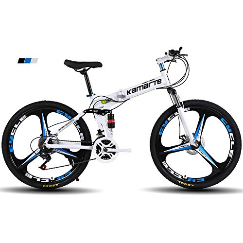 "FJW Bicicleta de montaña para Hombres, Ruedas de 26""de 3 Pulgadas Mar"