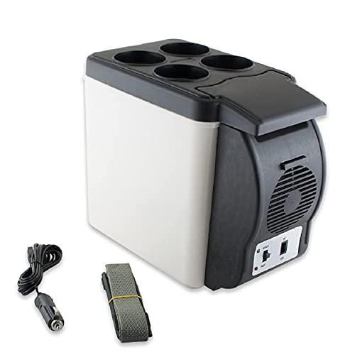 Mini refrigerador de coche para el cuidado de la piel, refrigerador y calentador termoeléctrico, congelador portátil de 12 V, refrigerador multifuncional para bebidas y alimentos