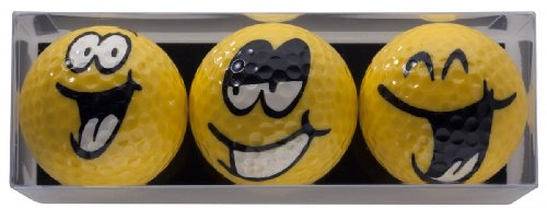 Golfball-Set Smiling Faces