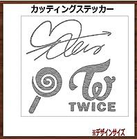 12x12cm TWICE 【SANA サナ】カッティングステッカー 銀